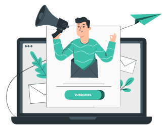 subscribe to newsletter illustration