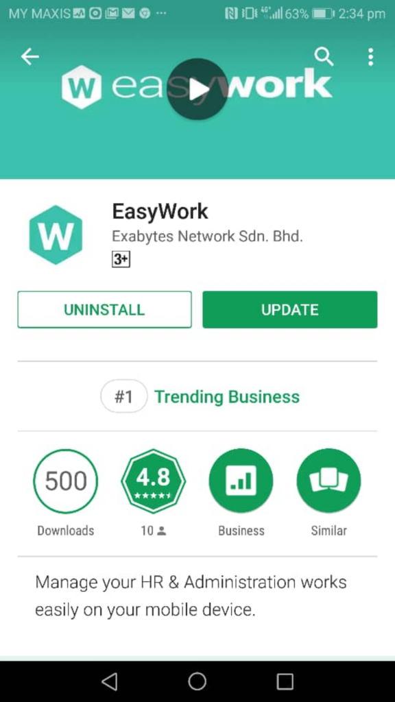 EasyWork Google Play Store